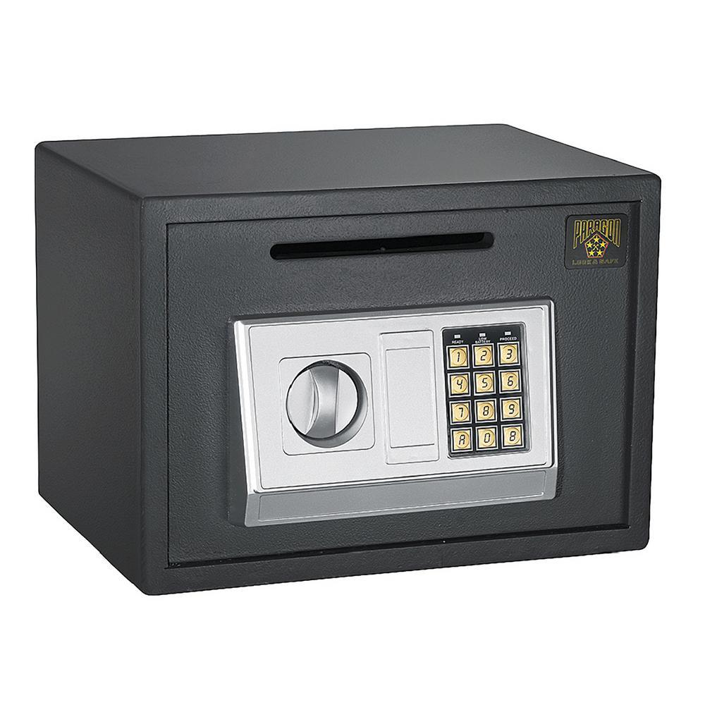 Paragon 0 67 Cu Ft Digital Depository Safe Cash Drop Safes Heavy Duty Secure Hwd630449 The Home Depot