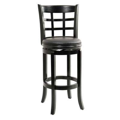 Kyoto 29 in. Black Swivel Cushioned Bar Stool