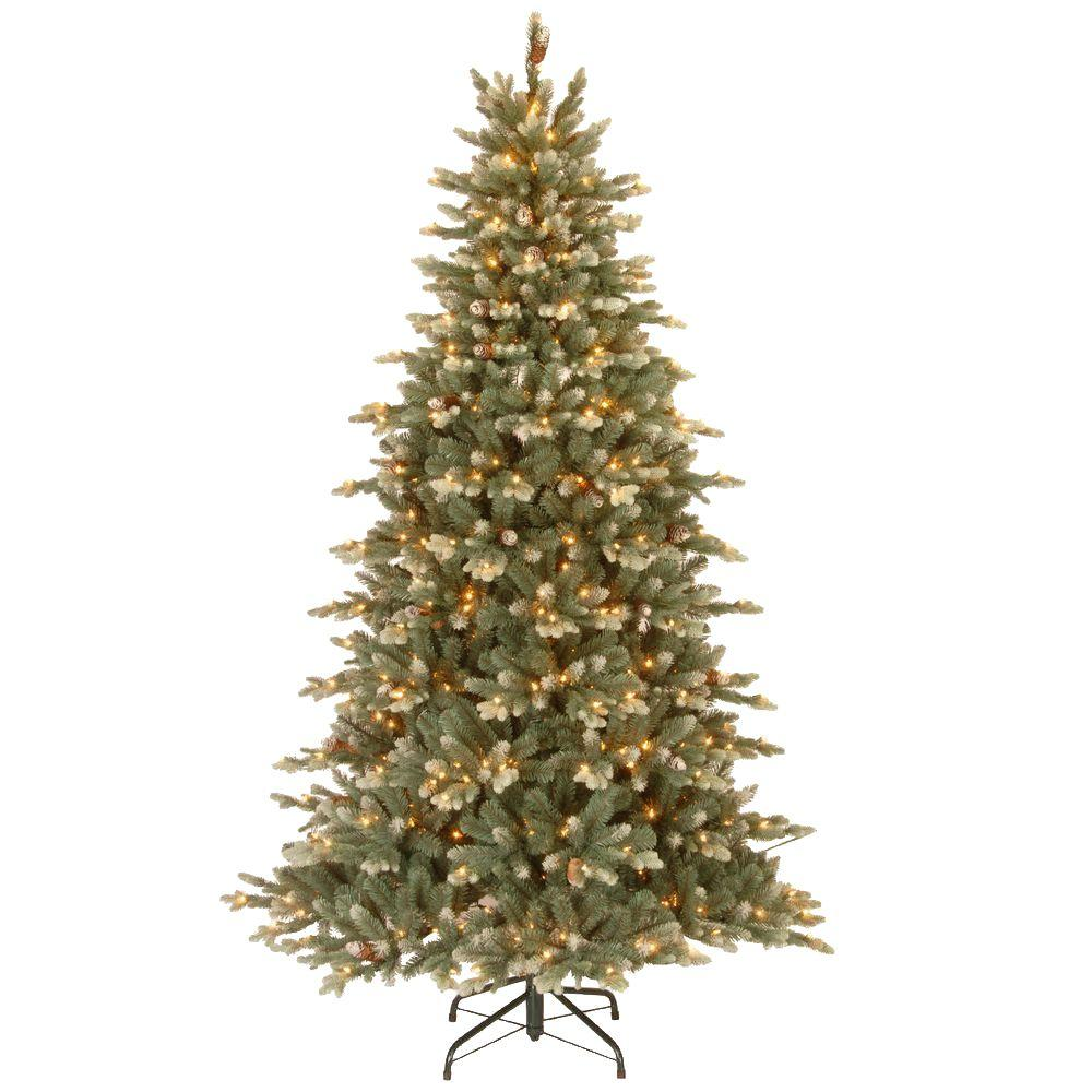 7.5 ft. Feel-Real Copenhagen Blue Spruce Power Connect Artificial Christmas Tree