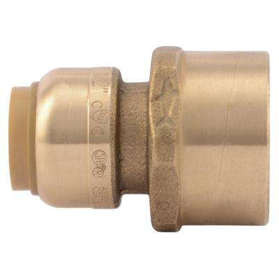 1/2 in. Brass Push-to-Connect x 3/4 in. Female Pipe Thread Adapter