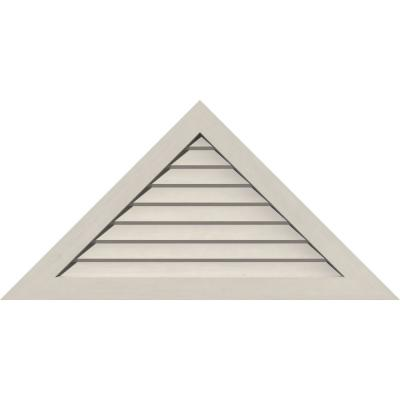 76.5 in. x 25.5 in. Triangle Primed Smooth Pine Wood Paintable Gable Louver Vent