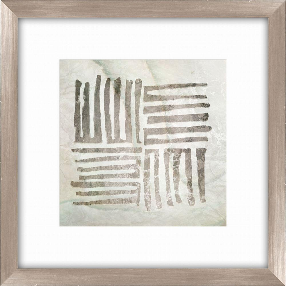 "20-1/2 in. x 20-1/2 in. ""Tribal Etched Lines A"" Framed Wall"