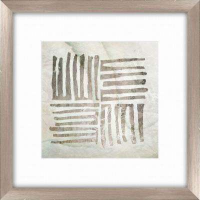 """20-1/2 in. x 20-1/2 in. """"Tribal Etched Lines A"""" Framed Wall Art"""