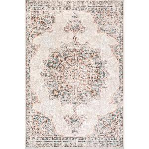 Nuloom Helios Distressed Beige 8 Ft X 10 Ft Area Rug Grws01a 8010 The Home Depot