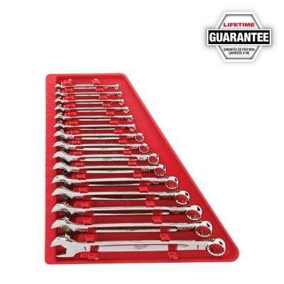 Combination SAE Wrench Mechanics Tool Set (15-Piece)