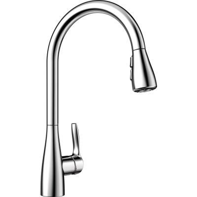 ATURA Single-Handle Pull-Down Sprayer Kitchen Faucet in Polished Chrome