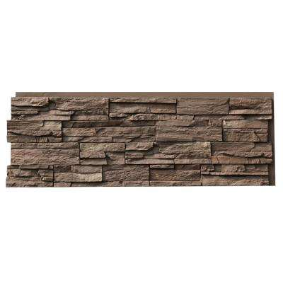 Country Ledgestone 15.5 in. x 43.5 in. Himalayan Brown Faux Stone Siding Panel (4-Pack)