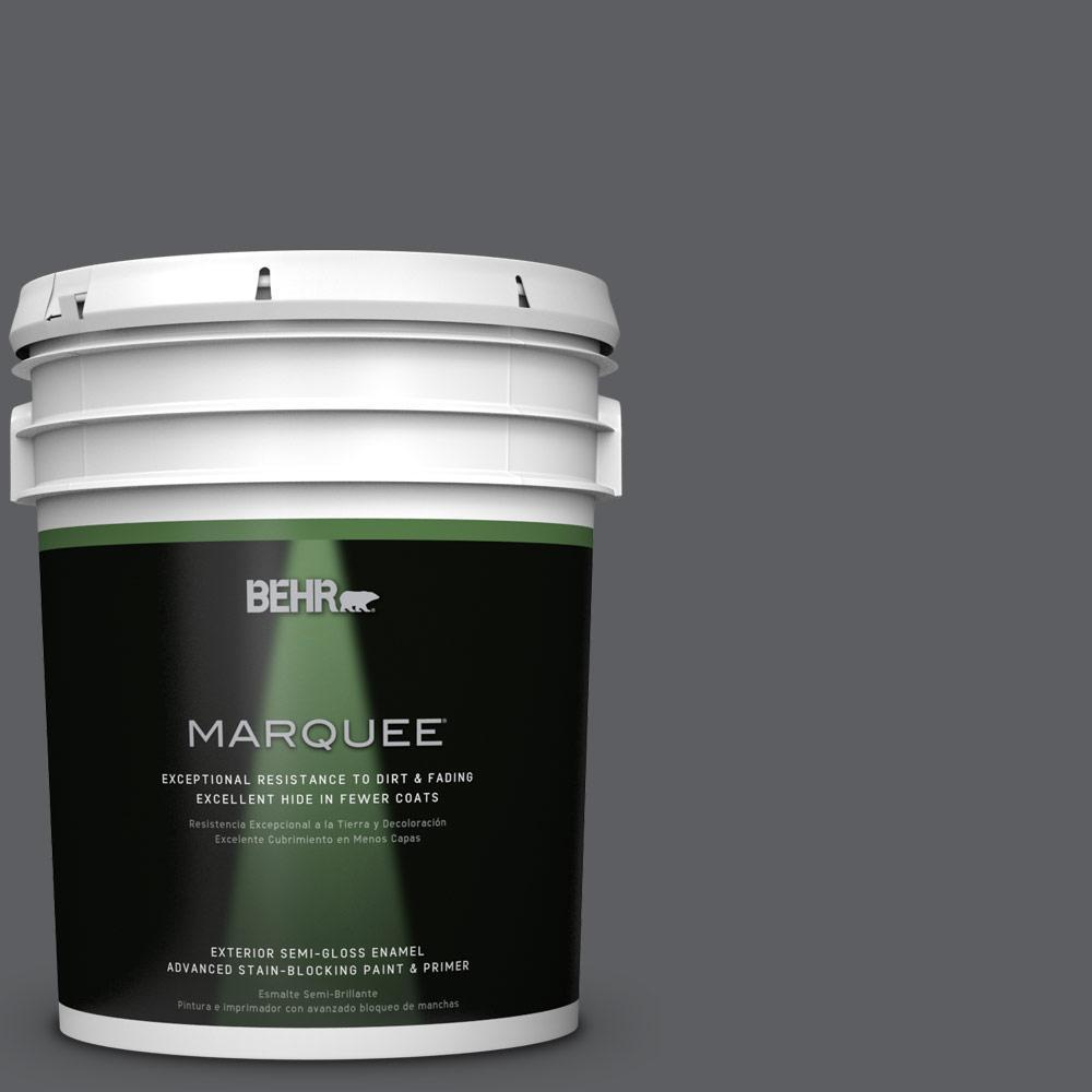 5-gal. #N500-6 Graphic Charcoal Semi-Gloss Enamel Exterior Paint