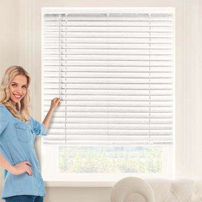 Pickled Oak Cordless 2 in. Vinyl Mini Blind - 70 in. W x  64 in. L