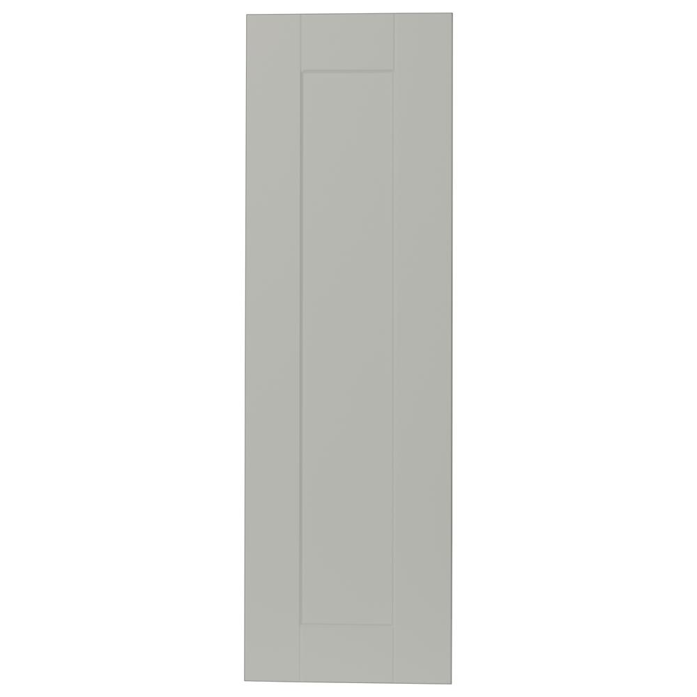 0.625x35.375x11 in. Shaker Wall Cabinet Decorative End Panel in Dove Gray