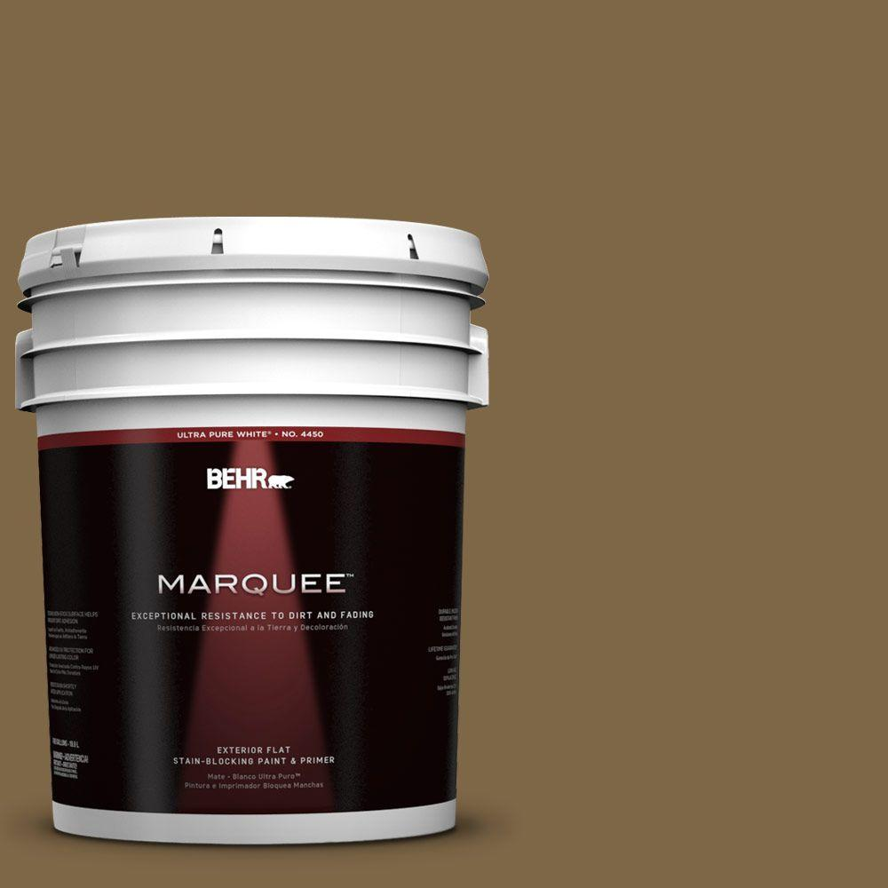 5-gal. #320F-7 Fig Flat Exterior Paint