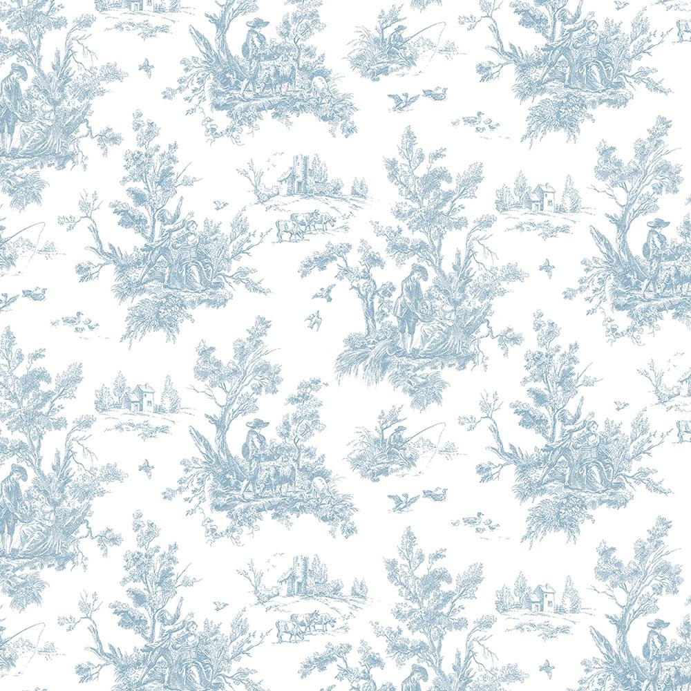 Norwall Toile Wallpaper Ab27656 The Home Depot