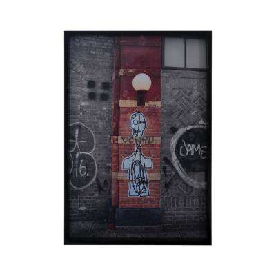 "37 in. x 25 in. ""Bowery II"" Framed Wall Art"