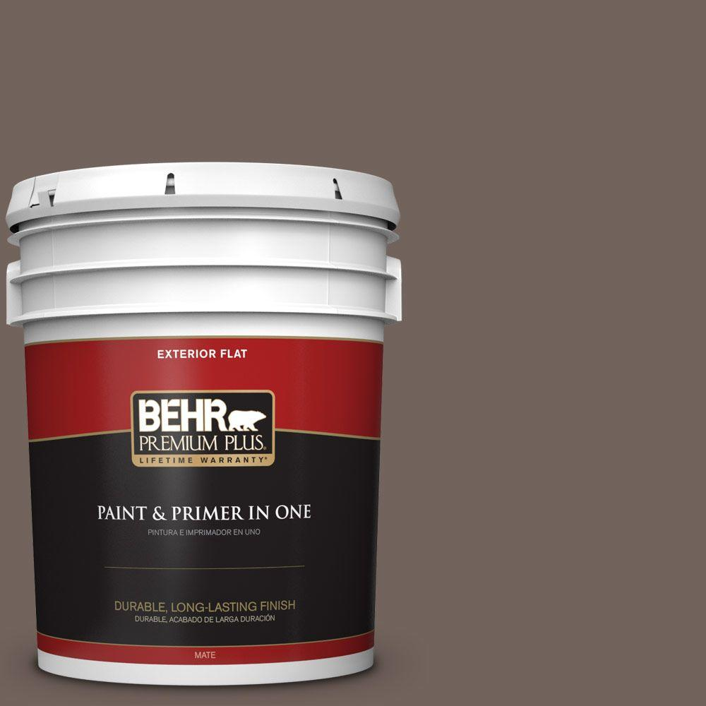 BEHR Premium Plus 5-gal. #780B-6 Mountain Ridge Flat Exterior Paint