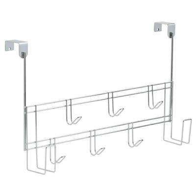 18-1/2 in. Chrome Over-the-Door Hook Rack