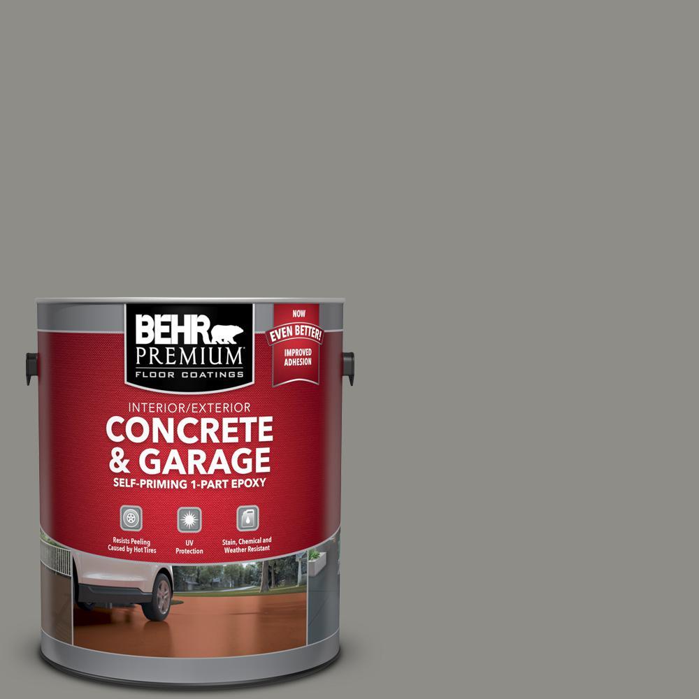 BEHR Premium 1 gal. #PFC-69 Fresh Cement Self-Priming 1-Part Epoxy Satin Interior/Exterior Concrete and Garage Floor Paint