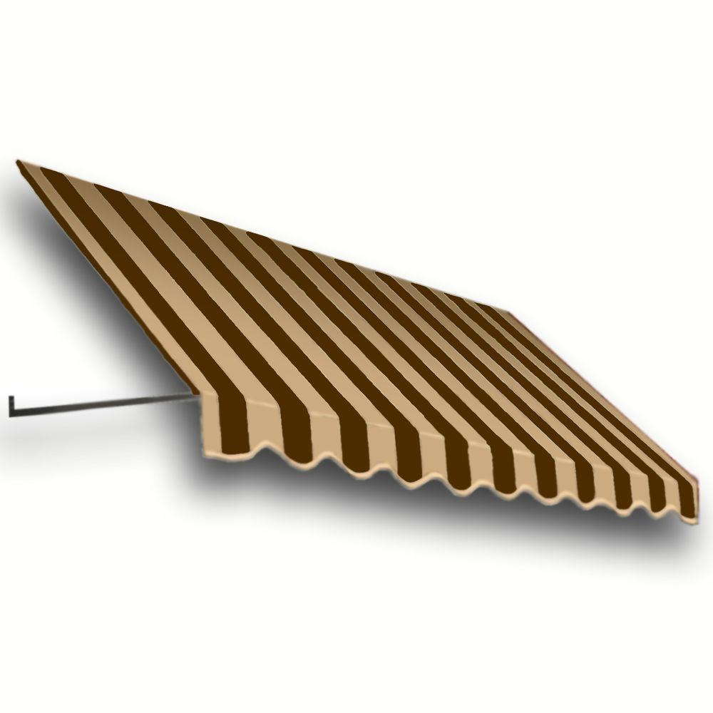 AWNTECH 20 ft. Dallas Retro Window/Entry Awning (24 in. H x 42 in. D) in Brown/Tan Stripe