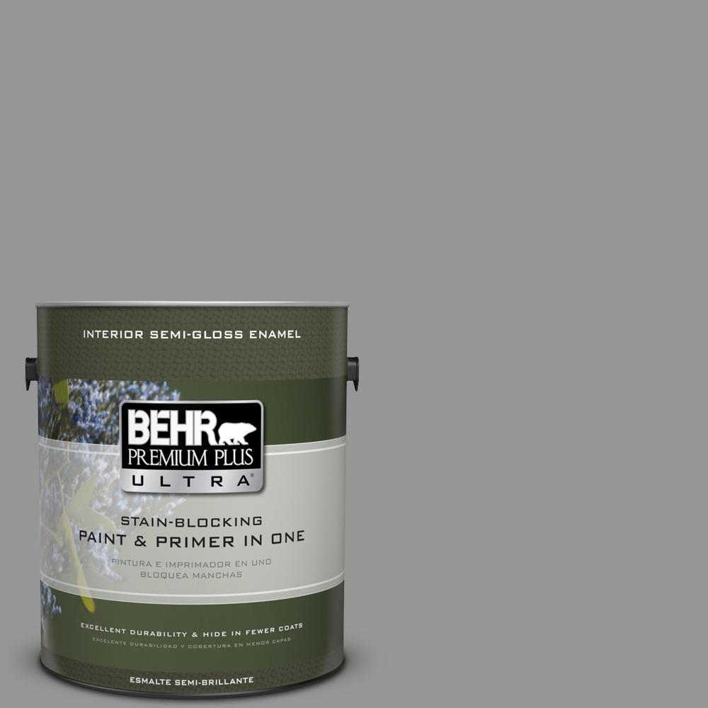 1 gal. #PPU24-19 Shark Fin Semi-Gloss Enamel Interior Paint