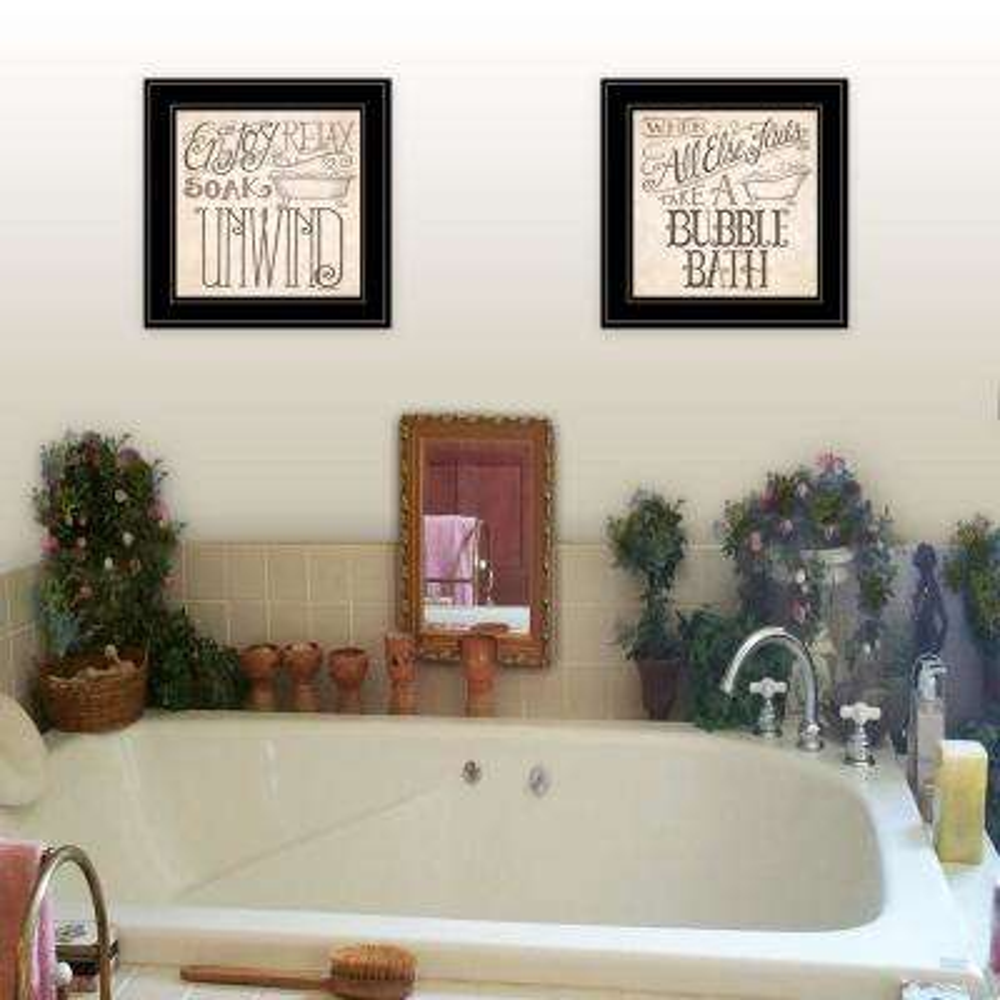 """""""Soak and Unwind"""" by Deb Strain Framed Wall Art"""