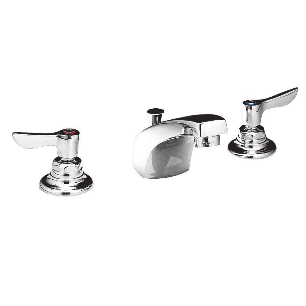 American Standard Monterrey 8 in. Widespread 2-Handle Bathroom Faucet in Polished Chrome with Grid Drain