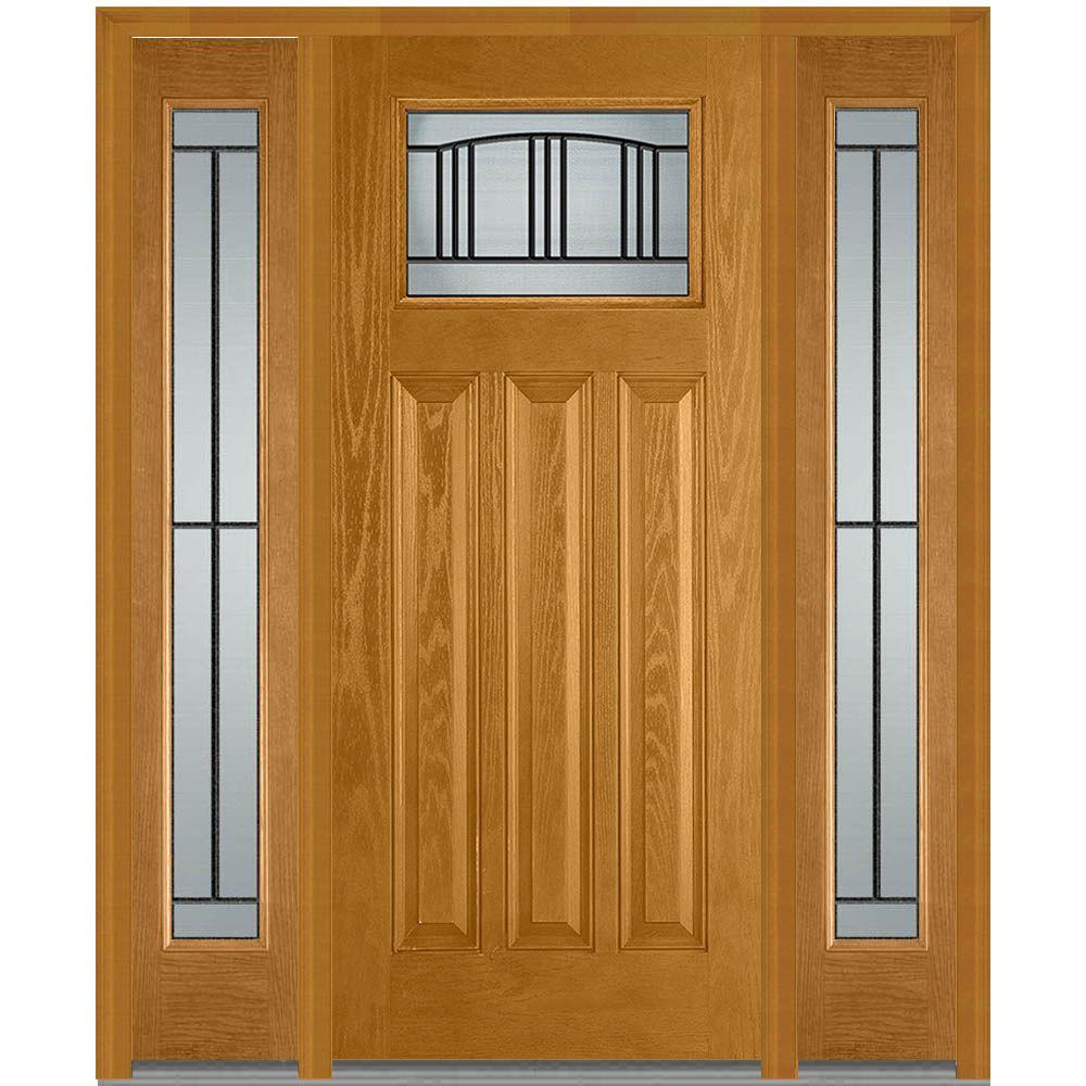 Steves Sons 32 In X 80 In Craftsman 9 Lite Stained: Steves & Sons 60 In. X 80 In. Craftsman 3 Lite Arch