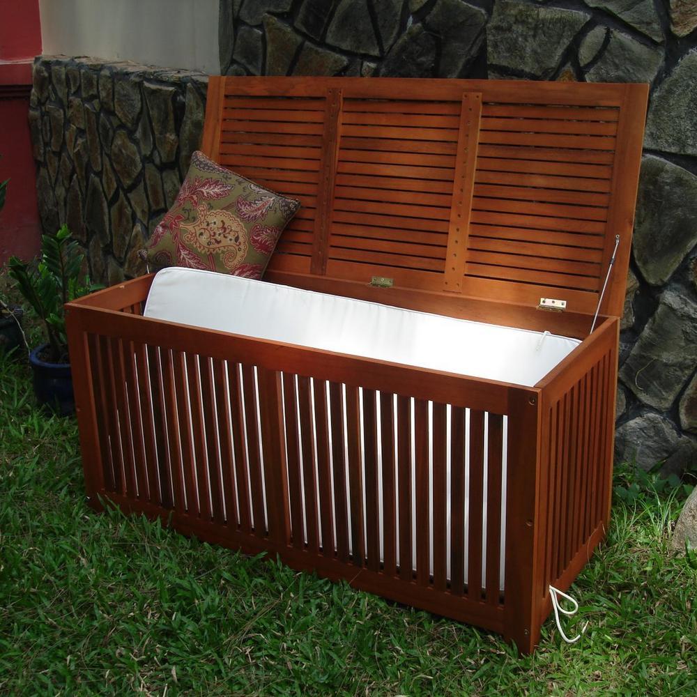 120 Gal. Eco-Friendly Wood Deck Storage Box