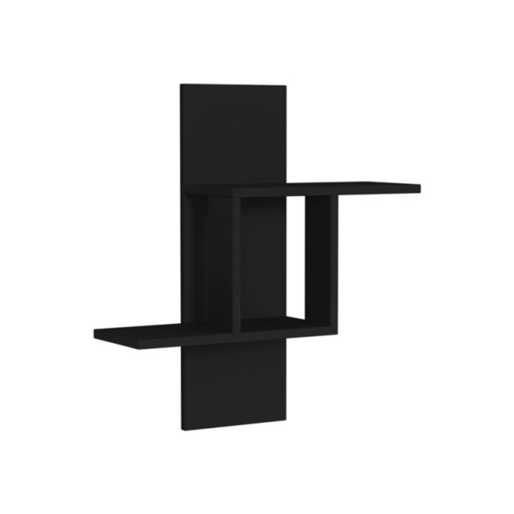 Ada Home Decor Waverley Anthracite Mid-Century Modern Wall Shelf
