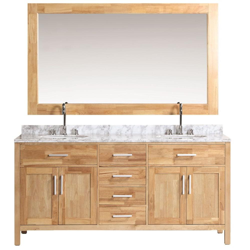 Vanity Oak Marble Vanity Top Mirror White