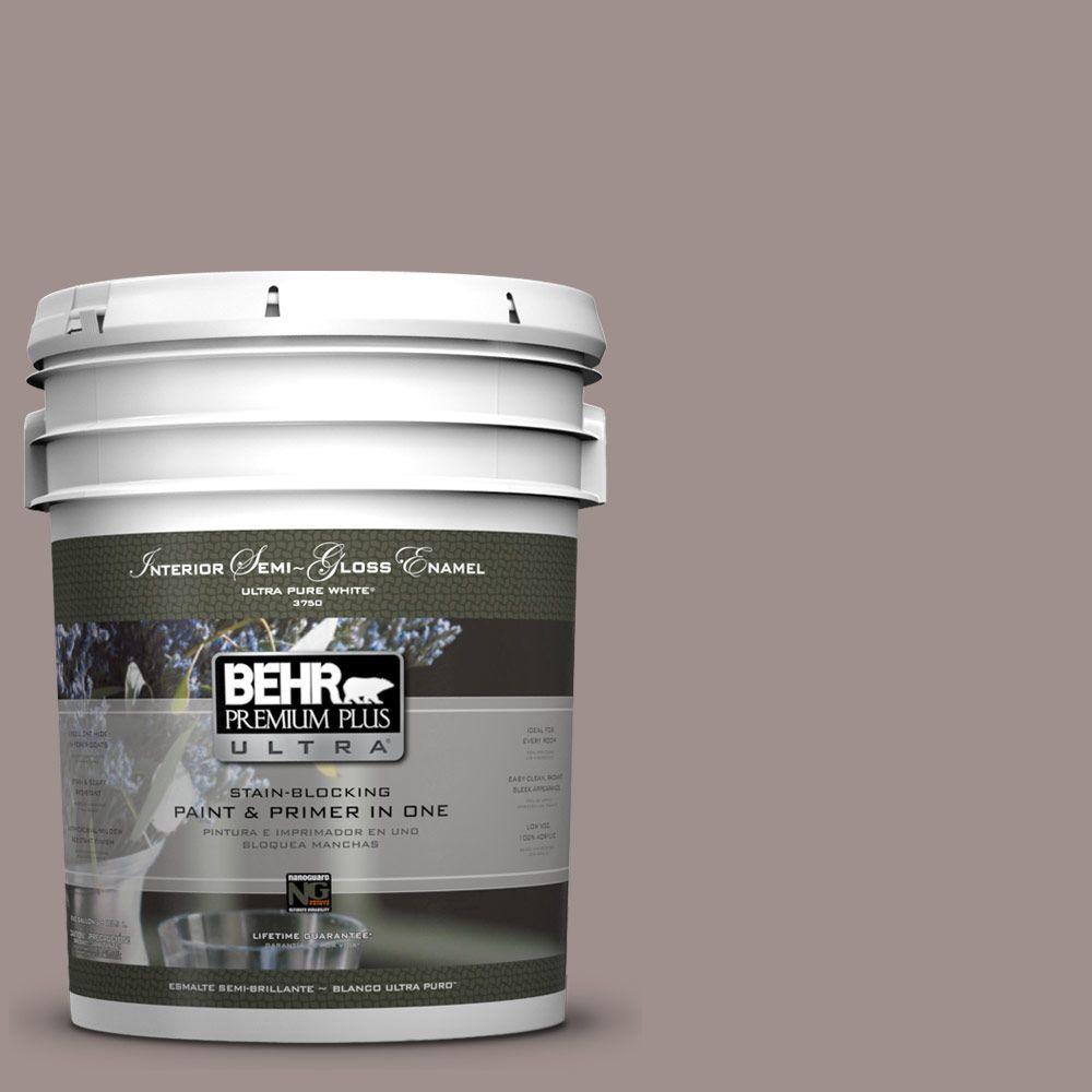 BEHR Premium Plus Ultra 5-gal. #780B-5 Cheyenne Rock Semi-Gloss Enamel Interior Paint