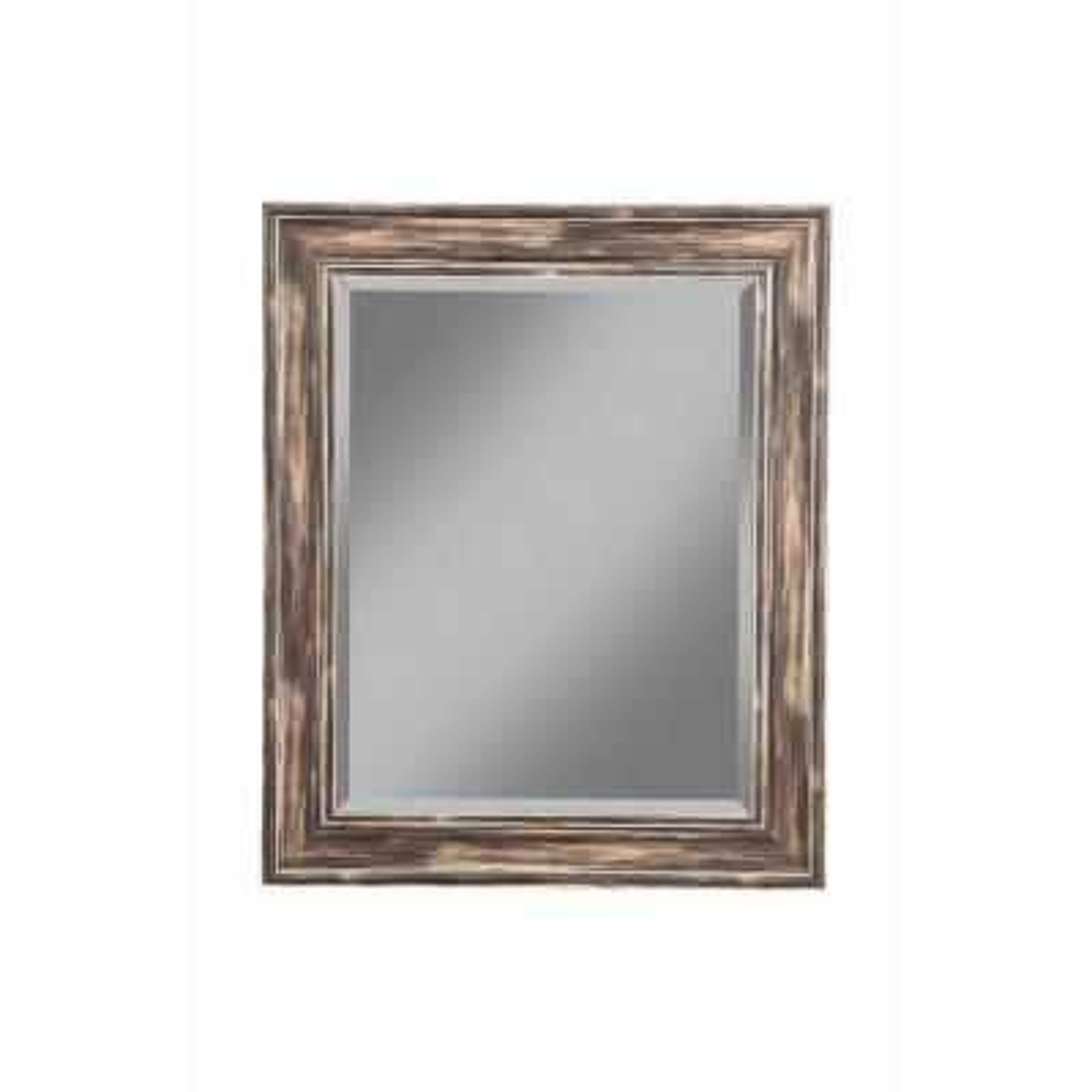 Medium Square Black Beveled Glass Mirror (30 in. H x 36 in. W)