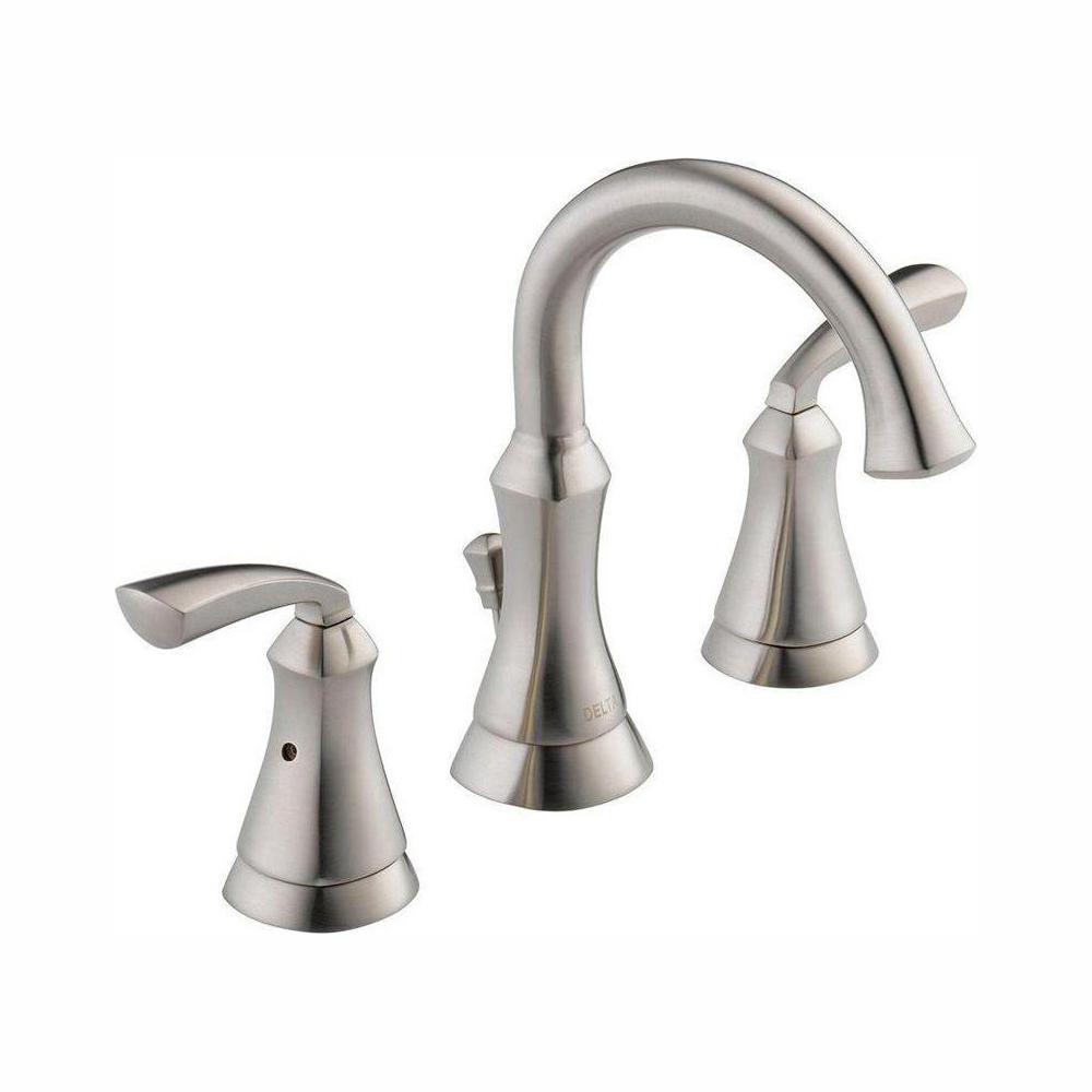 Delta Mandara 8 In Widespread 2 Handle Bathroom Faucet In Brushed Nickel