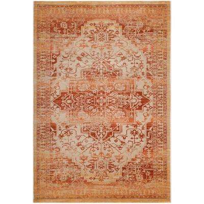 Evoke Rust/Cream 4 ft. x 6 ft. Area Rug