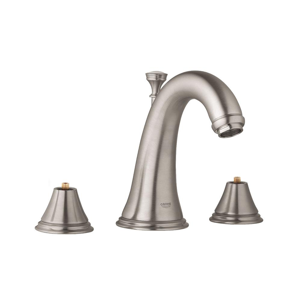 Geneva 8 in. Widespread 2-Handle 1.2 GPM Bathroom Faucet in Nickel