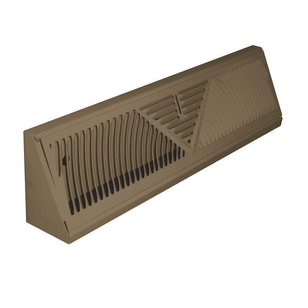 18 in. Steel Brown Baseboard Diffuser Return