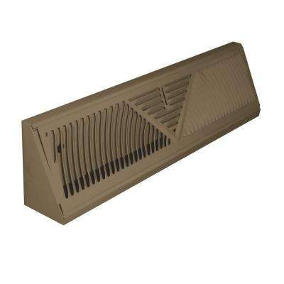 18 in. Steel Brown Baseboard Diffuser Supply