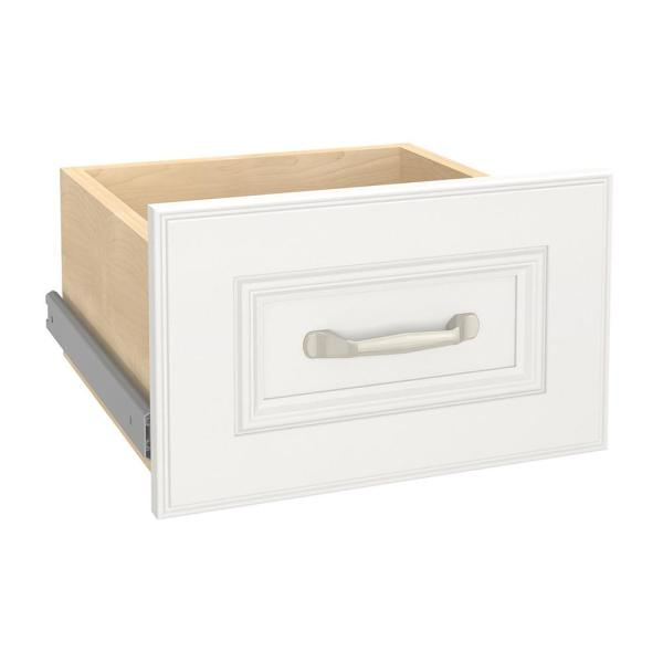 Impressions 13 in. W x 9 in. H White Wood Drawer Kit for 16 in. W Impressions Tower
