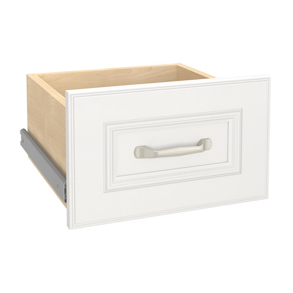 Impressions 13.99 in. x 8.7 in. White Narrow Wood Drawer Kit
