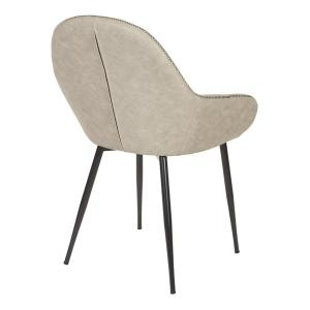 Sensational Osp Home Furnishings Piper Chair In Fog With Dark Brown Trim Onthecornerstone Fun Painted Chair Ideas Images Onthecornerstoneorg