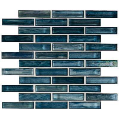 Oasis Blast 12 in. x 12 in. x 6 mm Glass Mesh-Mounted Mosaic Tile (1 sq. ft.)