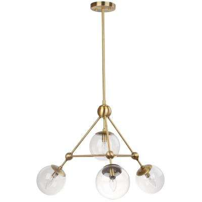 Bain 4-Light Gold Pendant