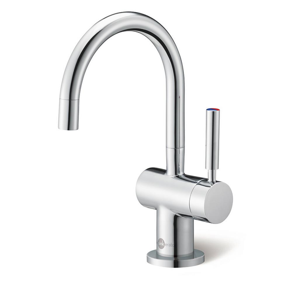 InSinkErator Indulge Modern Single-Handle Instant Hot Water Dispenser Faucet in Chrome