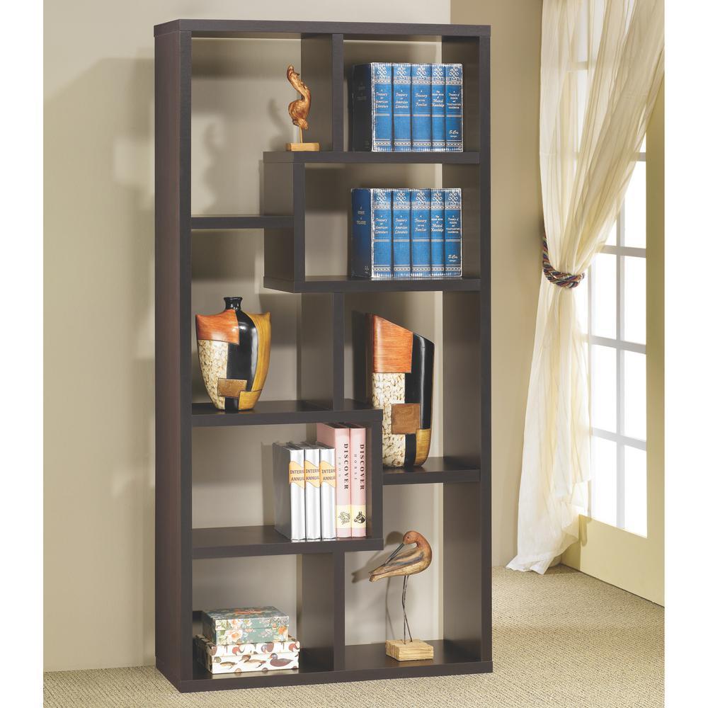 Livingston Cappuccino Bookcase