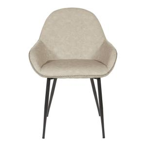 Tremendous Osp Home Furnishings Piper Chair In Fog With Dark Brown Trim Onthecornerstone Fun Painted Chair Ideas Images Onthecornerstoneorg