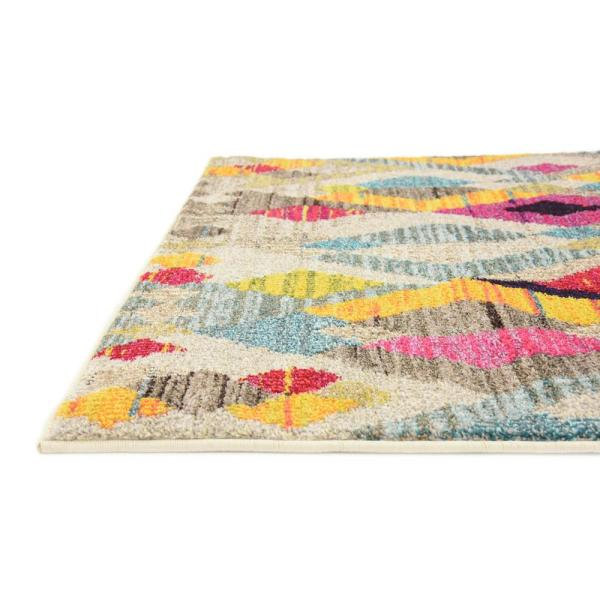 3 3 x 5 3 Unique Loom Sedona Collection Tribal Abstract Pink Area Rug