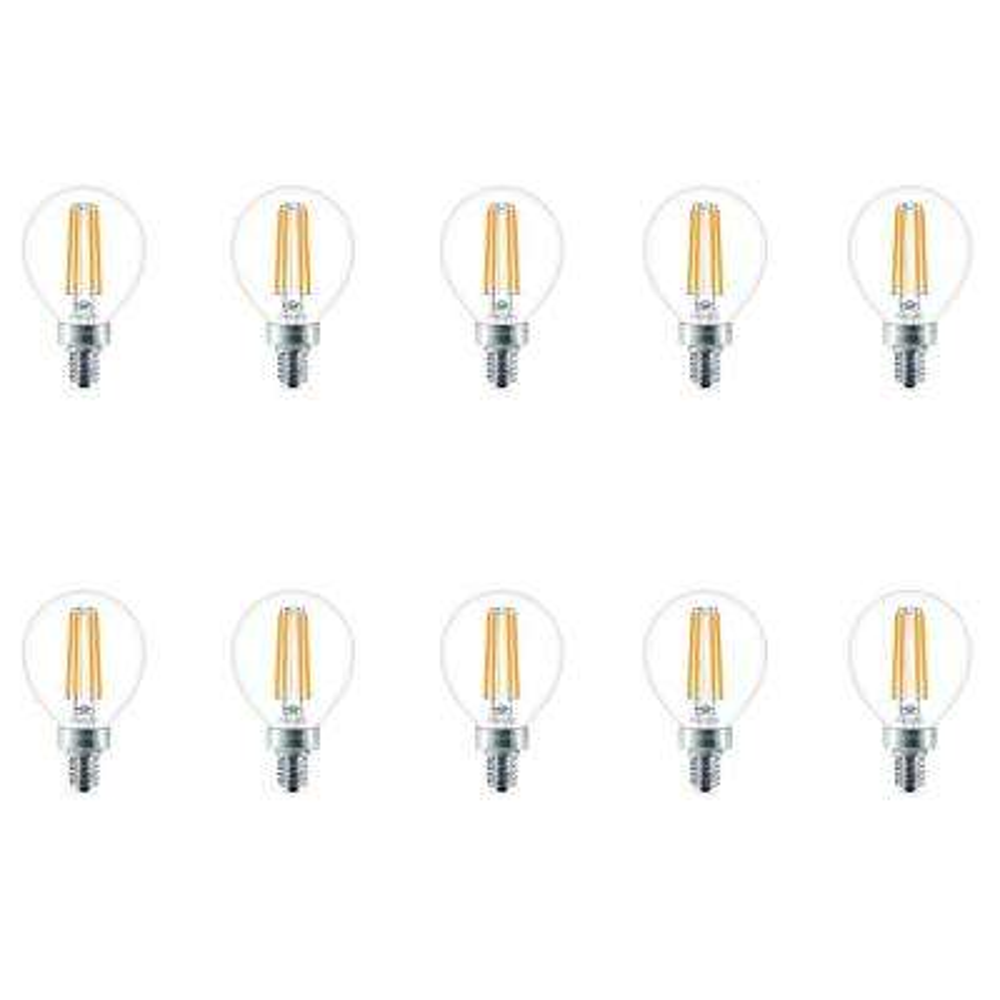 40-Watt Equivalent G16.5 LED Light Bulb Soft White Globe (10 per Case)
