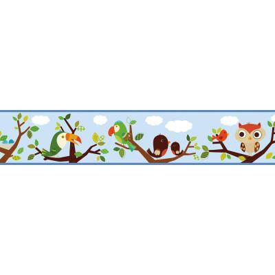 Island Beat Forest Friends Trail Wallpaper Border