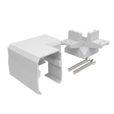 Avalon 2 in. White Aluminum Tristan Over-the-Top Post Bracket with Corner Post