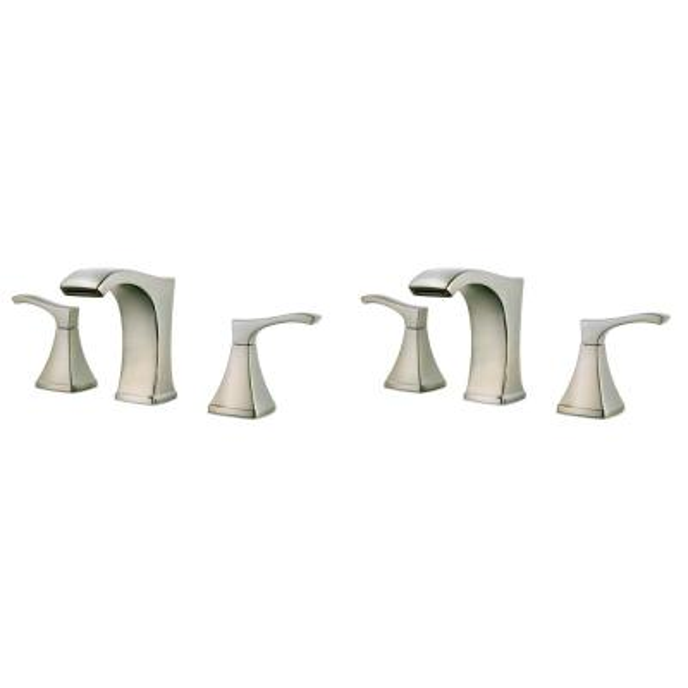 Venturi 8 in. Widespread 2-Handle Bathroom Faucet in Spot Defense Brushed Nickel (2- Pack Combo)