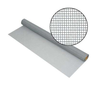 36 in. x 100 ft. Silvergray Fiberglass Screen 18 in. x 14 in. Mesh
