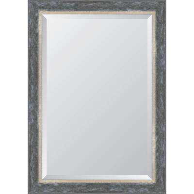 """30 in. x 42 in. Framed 3"""" Pewter Catalina Resin Frame Mirror"""